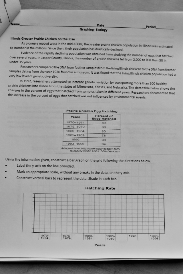 Ecology Graphing & Extended Response Practice